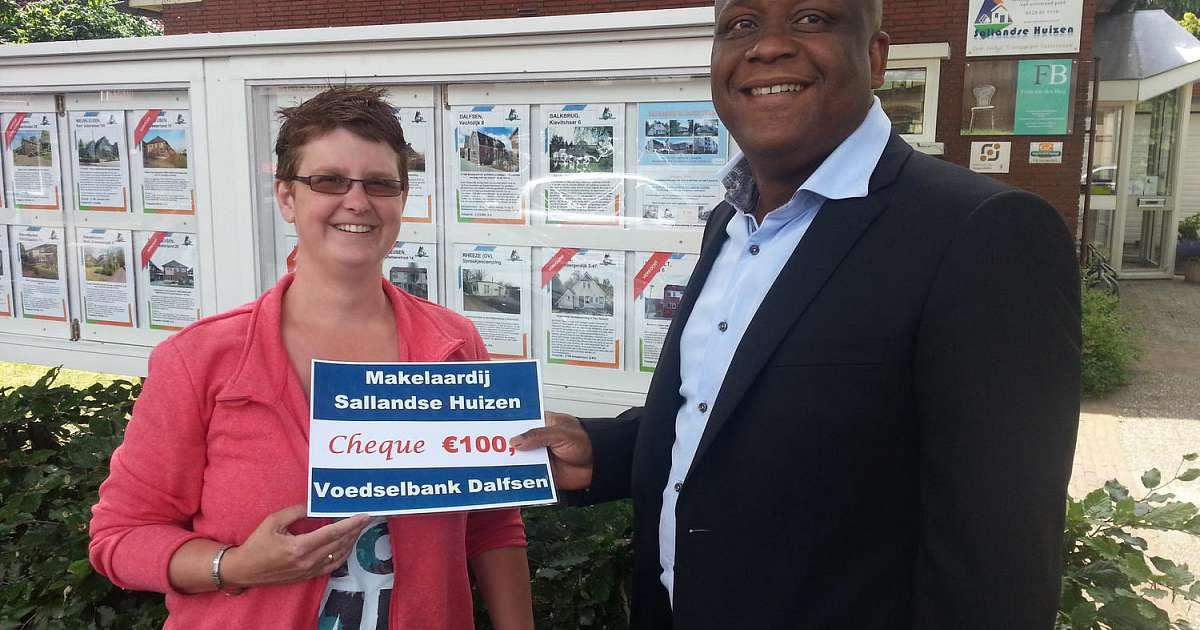 Sallandse Huizen Makelaar : Makelaar sallandse huizen helpt voedselbank dalfsennet