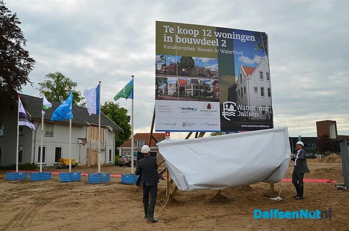 Bouw waterfront vandaag gestart in Dalfsen.