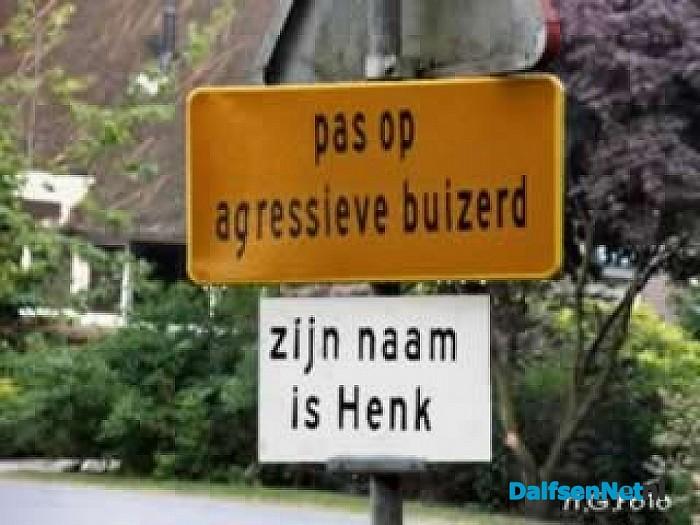 Henk is weer op oorlogspad. - Foto: H.G. Foto