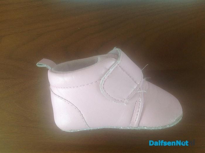 Dat is snel:Gevonden roze baby schoentje