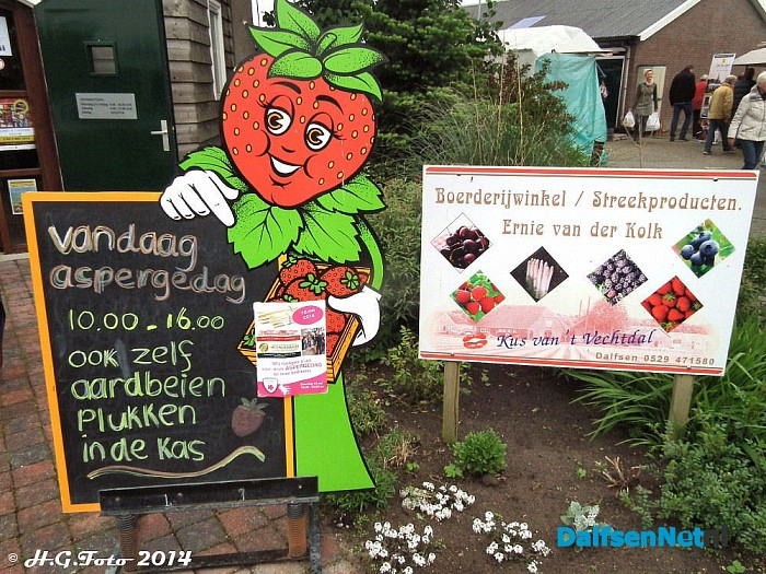 Opendag asperge en fruit teler v/d Kolk. - Foto: H.G. Foto