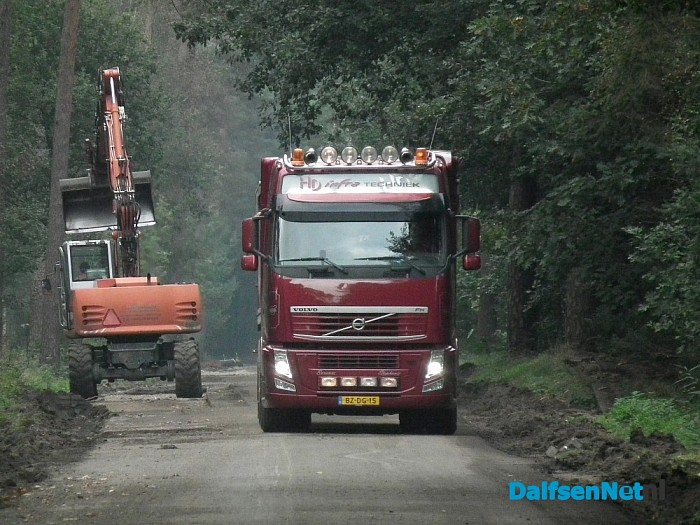 Werkzaamheden Dalmsholterweg in volle gang - Foto: Robert Bril