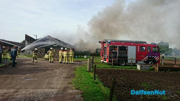 Schuurbrand in Lemelerveld - Foto: Robert Bril