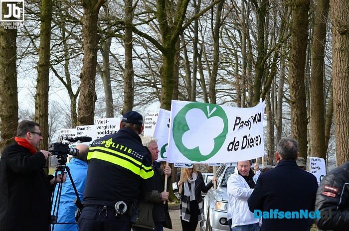 Reactie op protestactie mestvergister - Foto: Johan Bokma