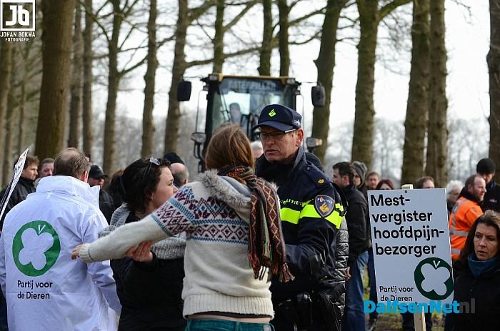 Reactie op protestactie mestvergister