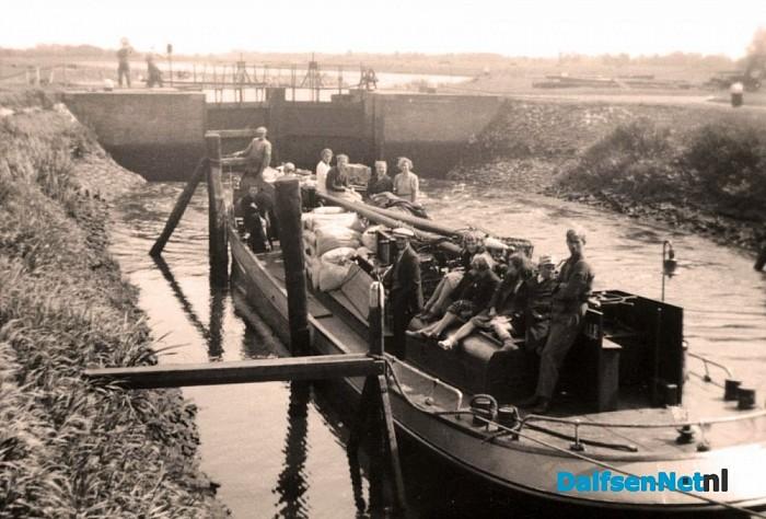 De stuw en de sluis van Vechterweerd - Foto: Historische Kring Dalfsen