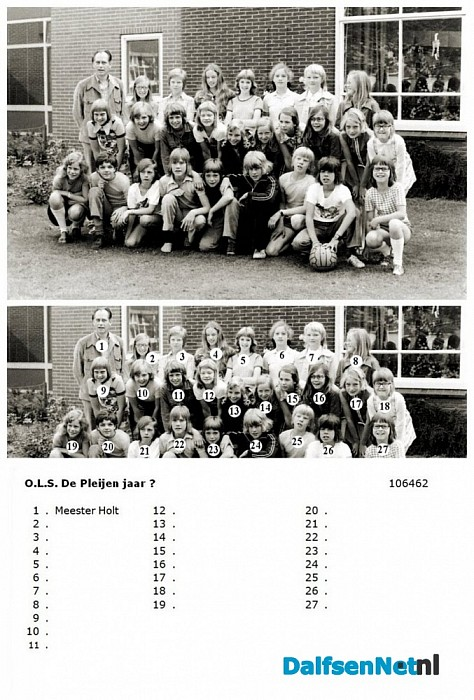 Namen gezocht groepsfoto - Foto: Historische Kring Dalfsen