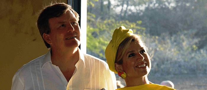 Willem en Maxima bij geboren Dalfser Bergman - Foto: eigen geleverde foto