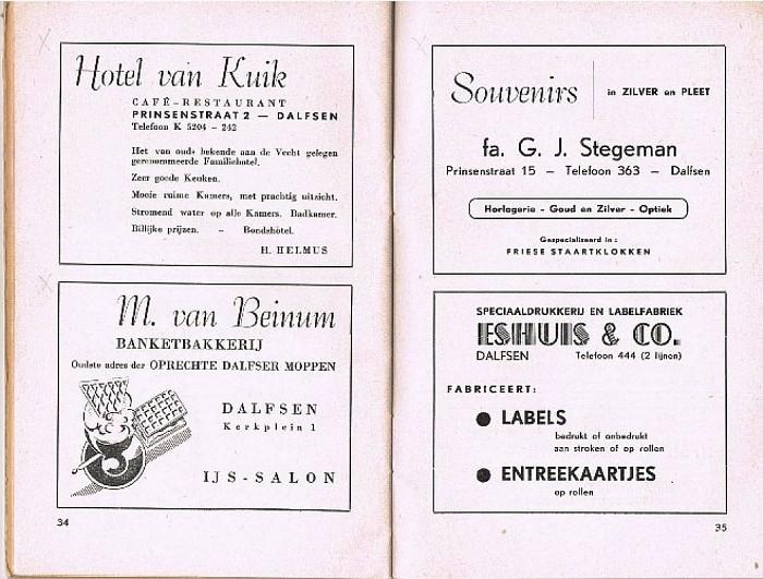 DALFSEN… 't ligt zo vriendelijk. 1953 - Foto: Wim