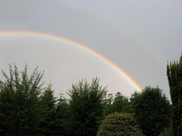 Regenboog boven Ankum en Hoonhorst - Foto: eigen geleverde foto