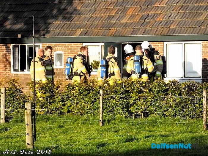 Woningbrand aan Kringsloot oost. - Foto: H.G. Foto
