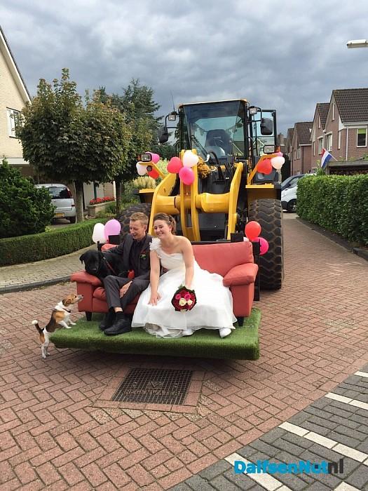 Uitzonderlijk bruidspaar vervoer