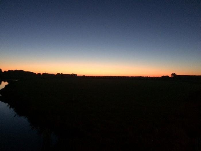 Het ochtendgloren op de  Blauwe Bogen - Foto: eigen geleverde foto