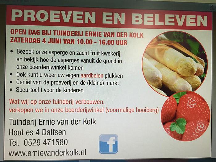 Aspergedagen Van der Kolk Oudleusen - Foto: eigen geleverde foto