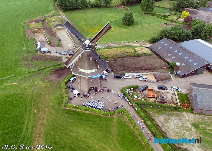 Station tot station loop molen Vilsteren. - Foto: H.G. Foto
