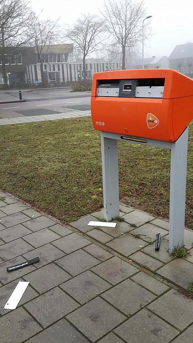 Nog een brievenbus niet vuurwerkbestendig - Foto: eigen geleverde foto