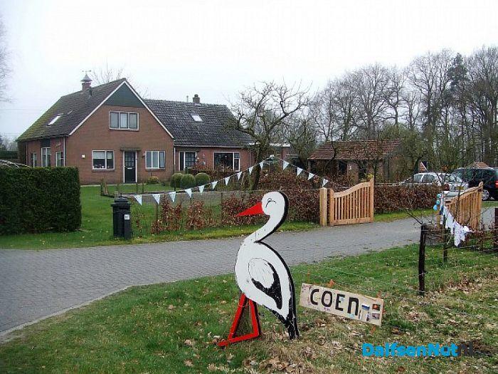 Coen welkom aan de Tibbensteeg - Foto: Wim