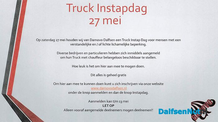 Truck Instapdag - Foto: Ingezonden foto