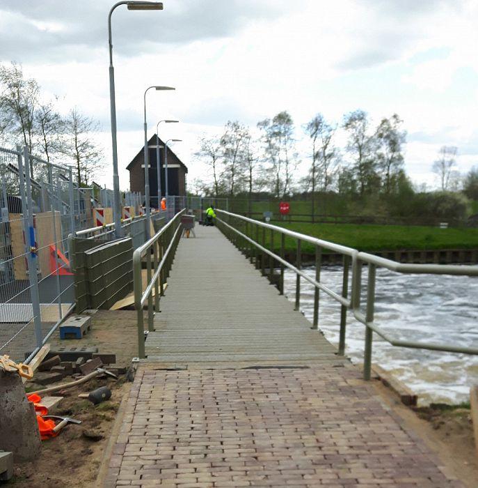 Verbreding voetbrug Vechterweerd - Foto: eigen geleverde foto