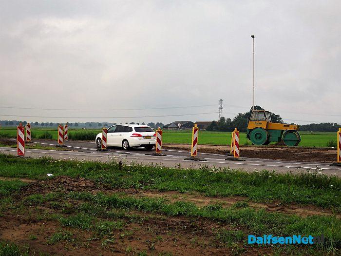 Het kruispunt in de RW35 bij Hoonhorst is gereed - Foto: Wim