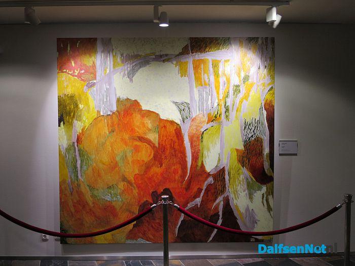 Schilderij Jeroen Krabbé in gemeentehuis - Foto: Wim