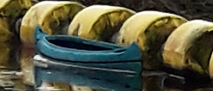 Kano ter plaatse van stuw Vechterweerd - Foto: eigen geleverde foto