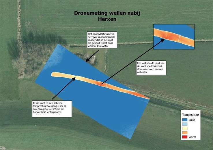 Drone spoort zwakke plekken in dijken op met warmtebeelden