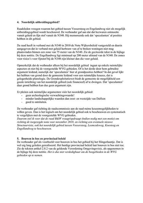 Brief aan raadsleden over uitbreidingsgebieden
