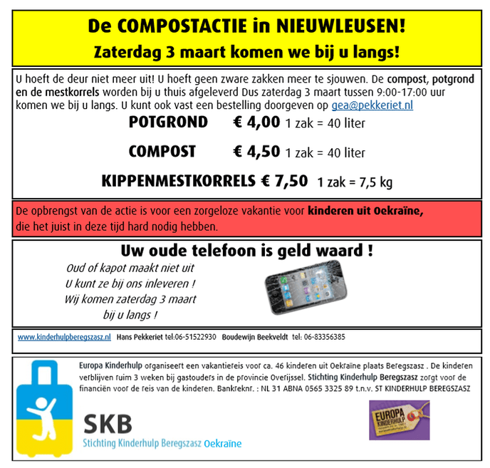 Compostactie SKB Nieuwleusen - Foto: eigen geleverde foto