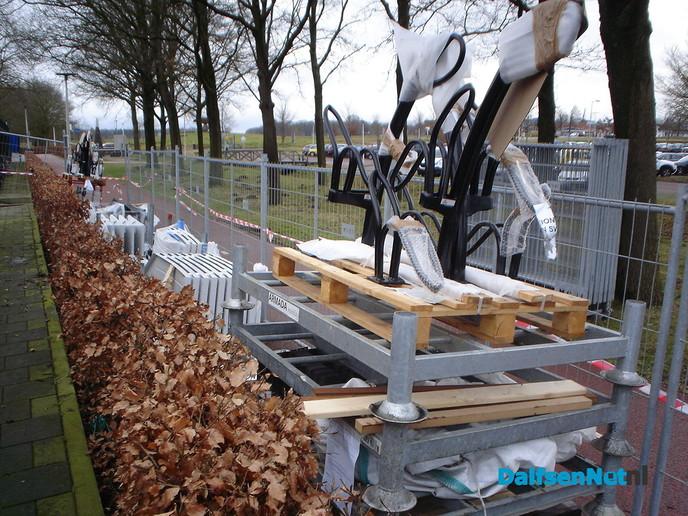 Nieuwe fietskluizen NS station