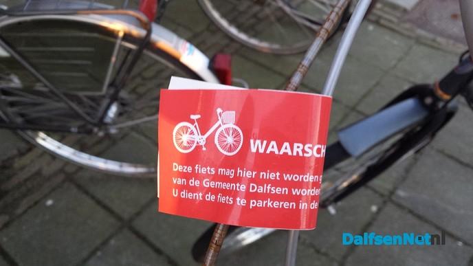 Niet correct geparkeerde fietsen worden verwijderd!