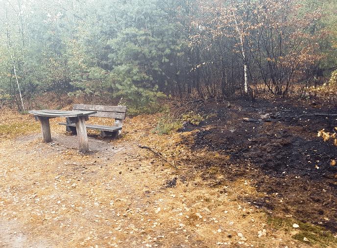 Gisteren 2 x bosbrand nabij Lemelerweg - Foto: Politie Vechtdal