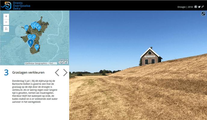Waterschap brengt droogte in beeld met online kaart - Foto: eigen geleverde foto