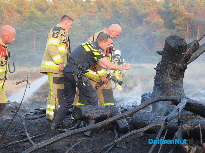 Opnieuw bosbrand in het Rechterenseveld te Dalfsen - Foto: Wim