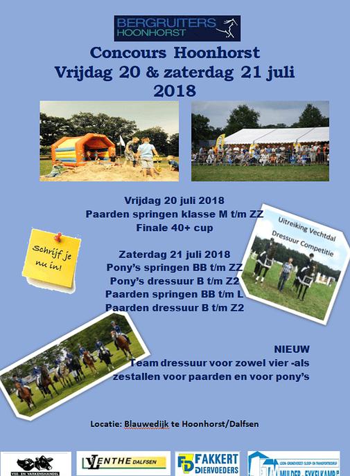 Concours Hippique Hoonhorst flyer - Foto: eigen geleverde foto