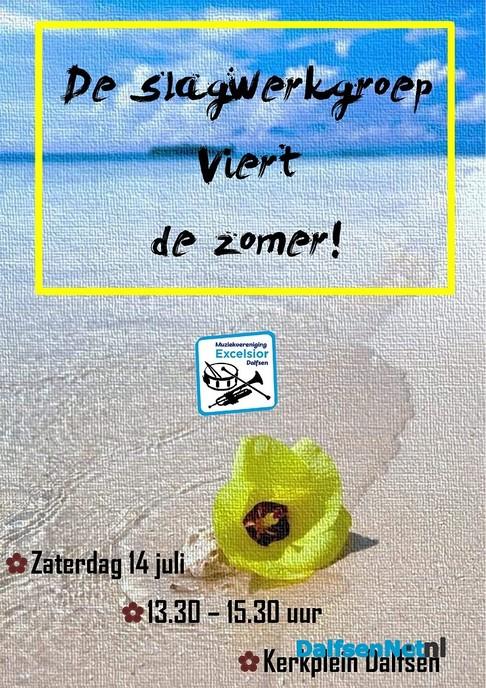 Slagwerkgroep geeft Zomerconcert op 14 juli ! - Foto: Ingezonden foto