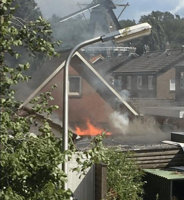 Brandweer rukte groots uit naar Hoonhorst