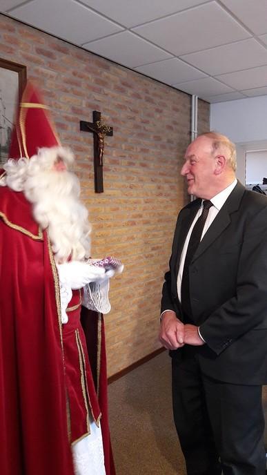 Sint in parochiecentrum - Foto: eigen geleverde foto
