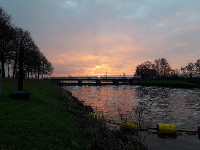 Prachtige foto Stuw Vechterweerd - Foto: eigen geleverde foto