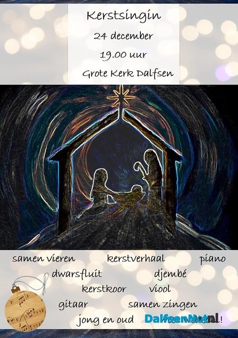 Kerst Sing-in op Kerstavond in Grote Kerk Dalfsen - Foto: Ingezonden foto