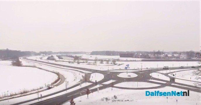 Dalfsen van Boven met sneeuwbeelden - Foto: Johan Bokma