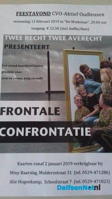 Cabaretavond in De Wiekelaar Oudleusen - Foto: Ingezonden foto