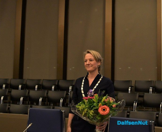 Erica van Lente onze nieuwe burgemeester van de gemeente Dalfsen - Foto: Johan Bokma