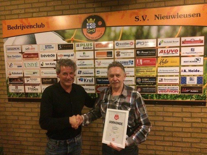 Henk van Zomeren clubheld - Foto: eigen geleverde foto