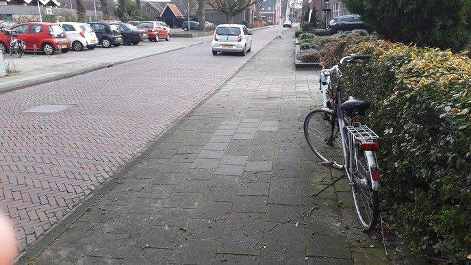 Damesfiets in de Ruitenborghstraat - Foto: eigen geleverde foto