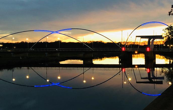 Foto Dalfser brug in avondlicht - Foto: eigen geleverde foto