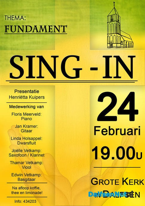 Sing-ins Dalfsen 24 februari - Foto: Ingezonden foto