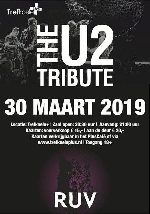 De opbouw in Trefkoele+ Live, The U2 Tribute & RUV in volle gang
