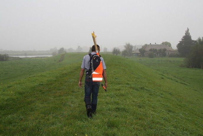 Inspectie dijken op schades en kwetsbare plekken - Foto: eigen geleverde foto