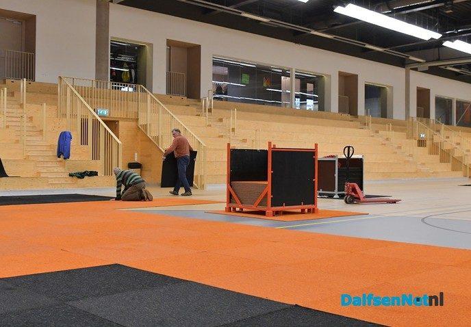 Opbouw Damito consumentenbeurs in de Trefkoele+ gestart - Foto: Johan Bokma
